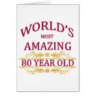80th. Birthday Card