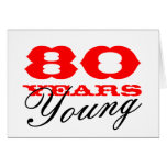 80th Birthday card for 80 years young men or women