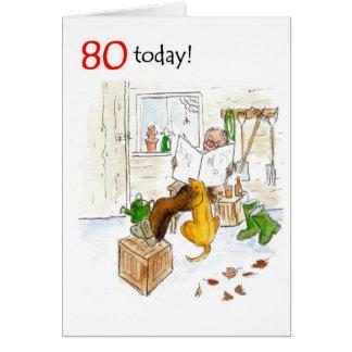 80th Birthday Card for a Man