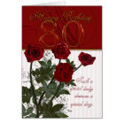 80th Birthday Card With Roses