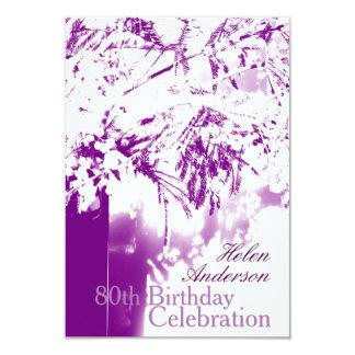 80th Birthday Celebration Flower Bouquet Custom 9 Cm X 13 Cm Invitation Card