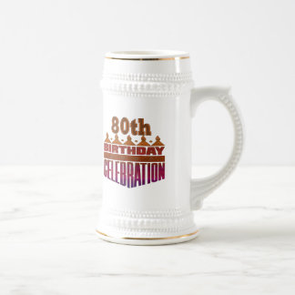 80th Birthday Celebration Gifts Beer Stein