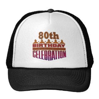 80th Birthday Celebration Gifts Hats
