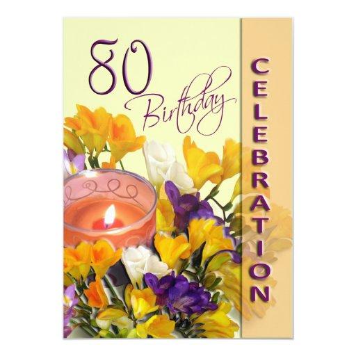 80th Birthday Celebration party invitation