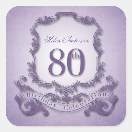 80th Birthday Celebration Personalised Stickers