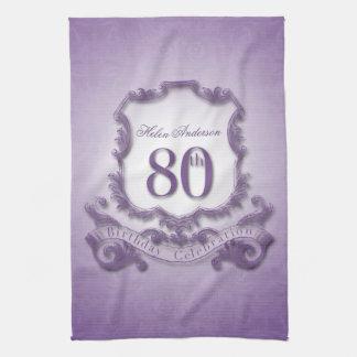 80th Birthday Celebration Personalized K. Towel