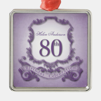 80th Birthday Celebration Personalized Ornament