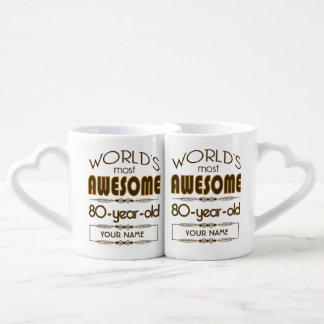 80th Birthday Celebration World Best Fabulous Lovers Mug