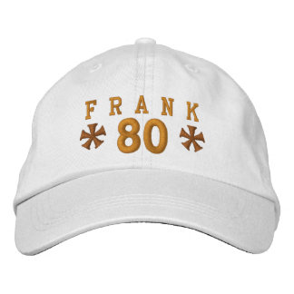 80th Birthday Custom GOLD Embroidery H80A Baseball Cap