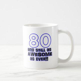 80th birthday design coffee mug