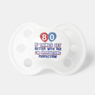80th birthday designs baby pacifiers
