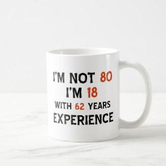80th birthday designs basic white mug