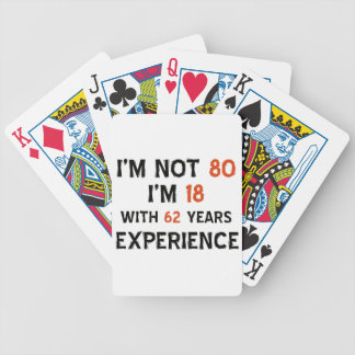 80th birthday designs bicycle playing cards