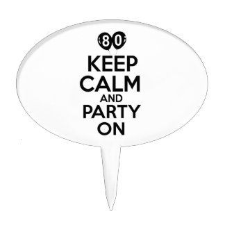 80th birthday designs cake toppers
