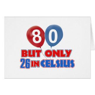 80th birthday designs card