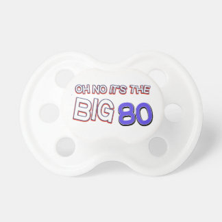 80th birthday designs pacifier
