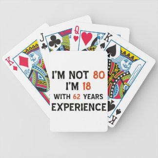 80th birthday designs poker deck