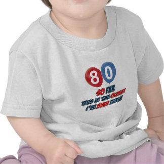 80th birthday designs t shirt