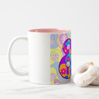 80th Birthday Flowery Retro Birthday Mug