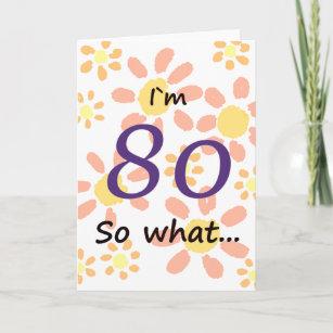 80th Birthday Funny Card