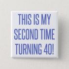 80th Birthday Gag Gift 15 Cm Square Badge