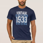 80th Birthday Gift 1933 or ANY YEAR Vintage V01 T-Shirt