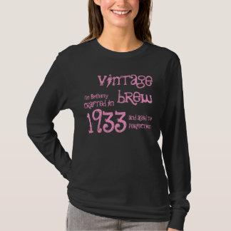 80th Birthday Gift 1933 Vintage Brew T-Shirt