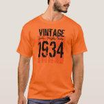 80th Birthday Gift Best 1934 Vintage V04 T-Shirt