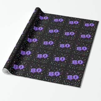 80th Birthday Gift Wrap Wrapping Paper