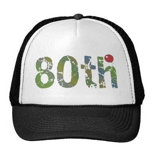 80th Birthday Gifts Mesh Hats