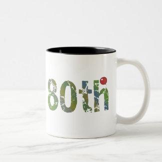 80th Birthday Gifts Two-Tone Coffee Mug