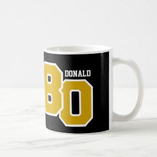 80th Birthday GOLD and Black V008A Coffee Mug