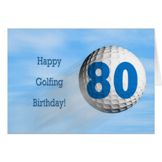 80th birthday golfing card