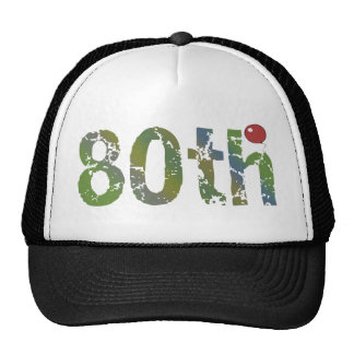 80th birthday hat