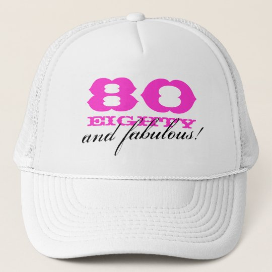 80th Birthday hat for women | 80 and