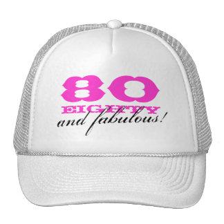 80th Birthday hat for women | 80 and fabulous!