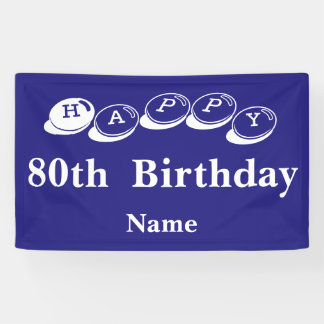 80th Birthday Indoor Banner
