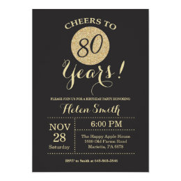 Surprise 80th Birthday Party Invitations Announcements Zazzle Co Uk