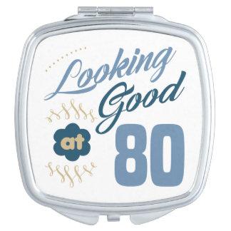 80th birthday Looking Good Travel Mirror