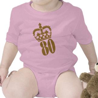 80th Birthday - Number – Eighty Baby Bodysuit