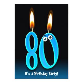 80th Birthday Party 13 Cm X 18 Cm Invitation Card