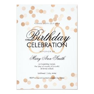 80th Birthday Party Copper Foil Glitter Lights 13 Cm X 18 Cm Invitation Card