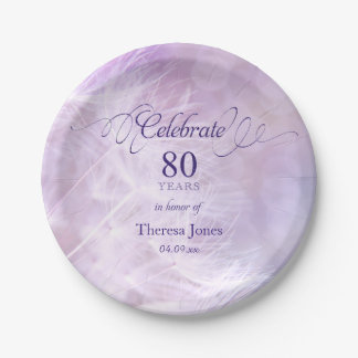 80th Birthday Party Custom 7 Inch Paper Plate