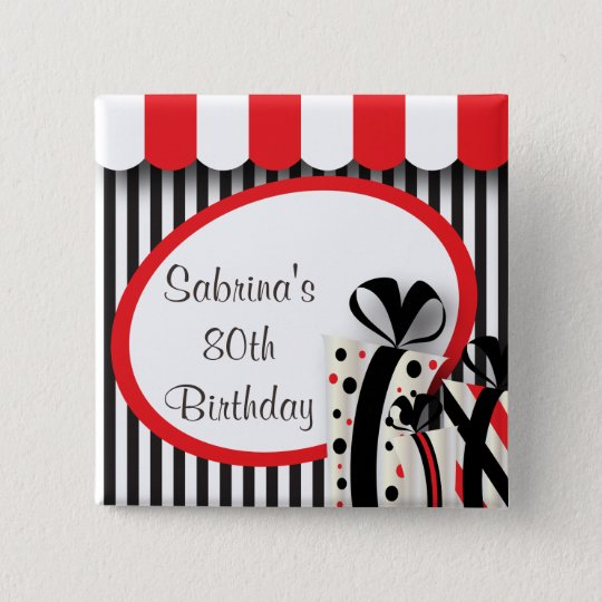 80th Birthday Party | DIY Text | Red