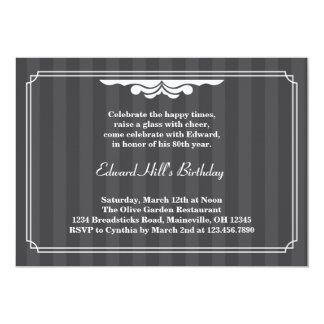 80th Birthday Party Elegant Invitation