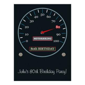 80th Birthday Party Invitation