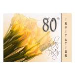 80th Birthday Party Invitation - Calla Lilies