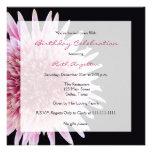 80th Birthday Party Invitation -- Gerbera Daisy