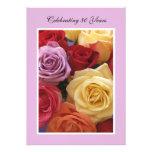 80th Birthday Party Invitation -- Roses