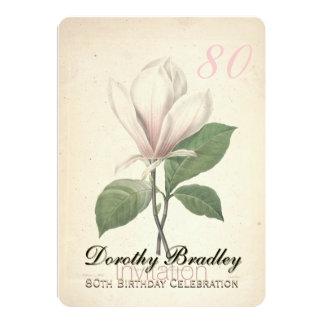80th Birthday Party Magnolia Custom Invitation